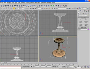 3DS Max  Candelabro